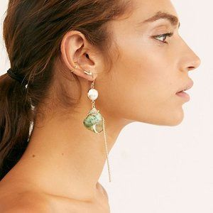 NWT Free People Shimmer Shell Dangle Earrings